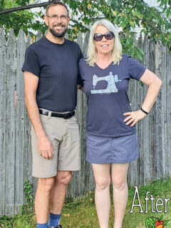 a couple showing off their plant-based diet transformation