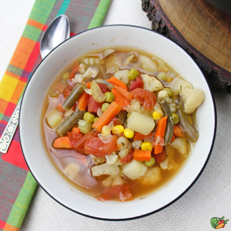 a bowl of Grandma's Vegetable Soup recipe