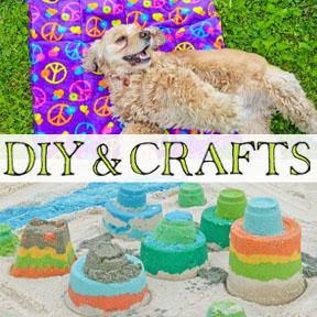 close up of 2 diy & crafts from Diana Rambles