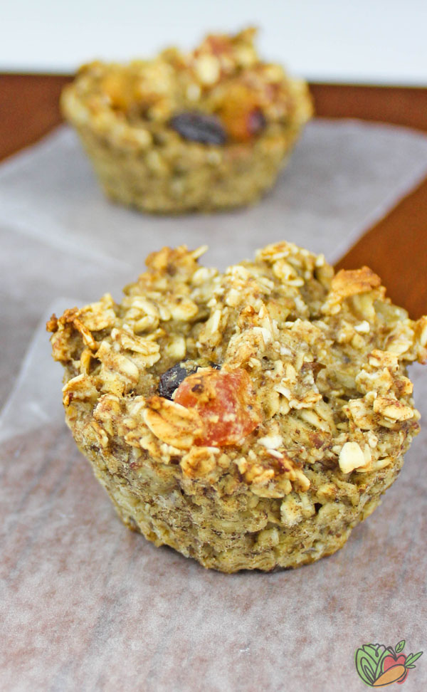 Close up of Gluten-Free Vegan Muffins with Tropical Fruit