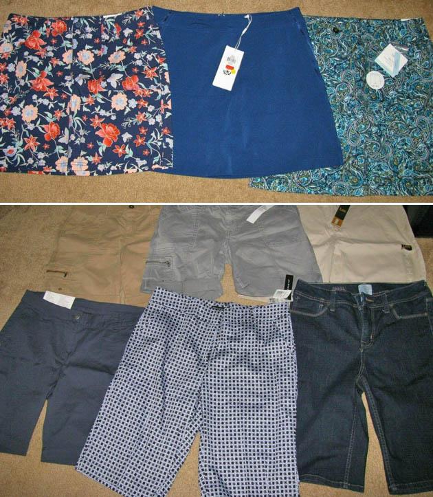 lot of shorts and skorts