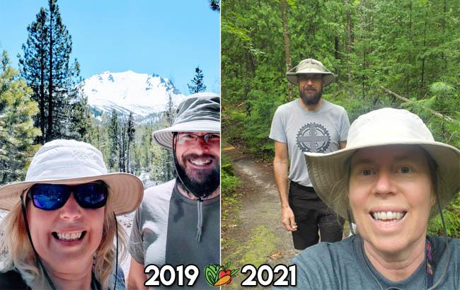 2 year comparison after a vegan diet